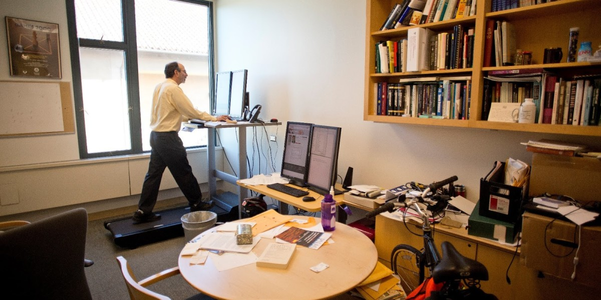 Al.treadmill desk.March 2013.Mohammad Kheirkhah photo
