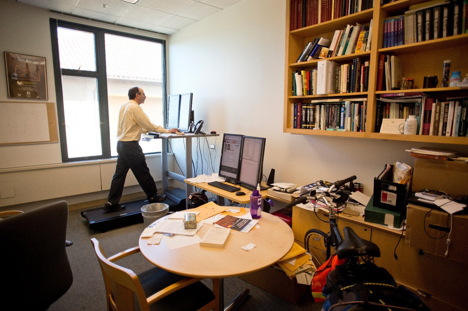 Al.treadmill desk.March 2013.Mohammad Kheirkhah photo